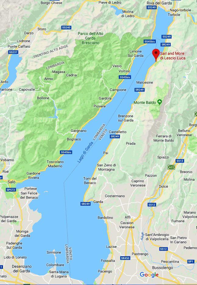 Lago Di Garda Cartina Geografica.Cartina Lagodigarda Sailandmore